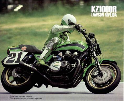 Vintage Kawasaki by Racing Caf 232 Vintage Brochures Kawasaki Kz 1000r Lawson