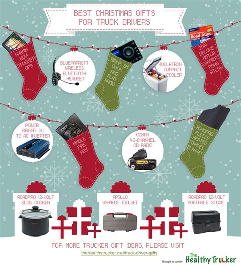 infographic 12 best gifts for truck drivers in 2013