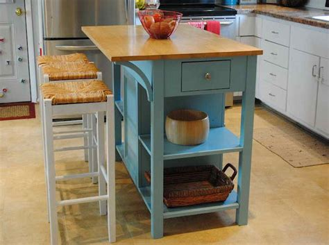 Small Movable Kitchen Island With Stools  Iecobinfo