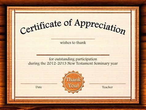 template editable certificate  appreciation template