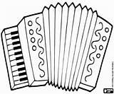 Accordion Coloring Colouring Musical Instruments Printable Accordian Fisarmonica Da Strumenti Disegni Musicali Colorare Stampare Di sketch template