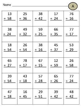 double digit addition  regrouping   bilingual hut