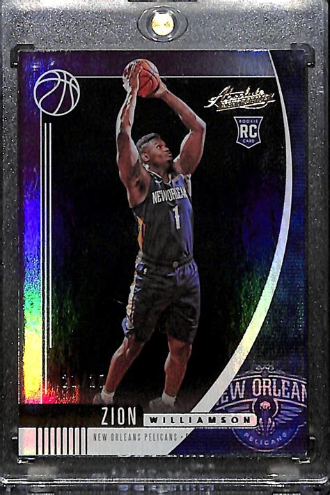 The card is not rare, more than 15,000 psa 10 graded. Lot Detail - 2019-20 Panini Absolute Zion Williamson Rookie Card (Purple Short Print) #21/25