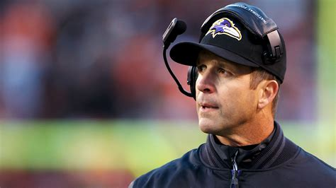 baltimore ravens head coach john harbaugh clocks long
