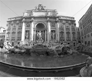 Trevi Fountain Rome Black And White Stock Photo & Stock ...