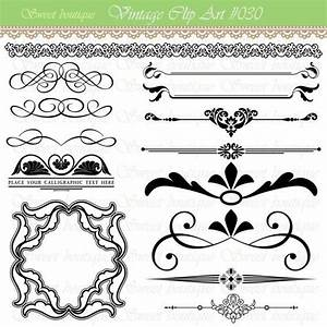 Text Dividers Digital Clipart Page Decoration Ornate Set ...