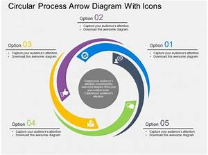 Pf Circular Process Arrow Diagram With Icons Flat