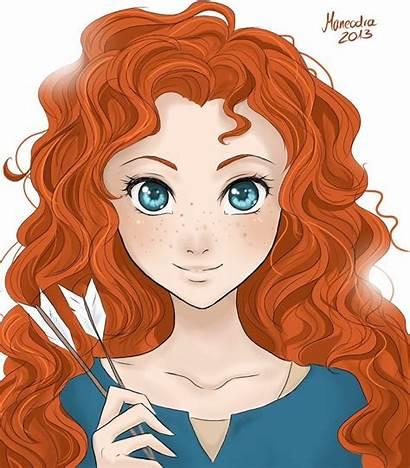 Merida Brave Drawing Disney Fanart Highlands Legende