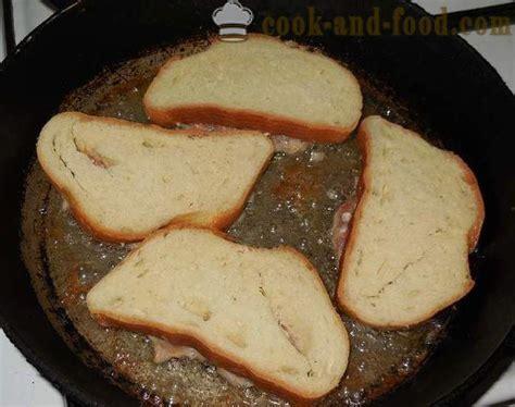 Karstās sviestmaizes ar gaļu, apceptas uz pannas - kā ...