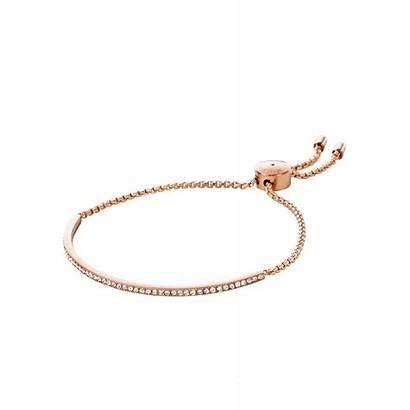 Gold Rose Bracelet Kors Michael Pave Tone