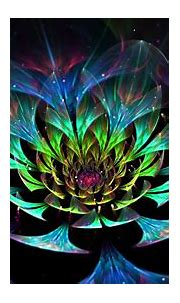 digital Art, Abstract, Colorful, Fractal Flowers, Glowing ...