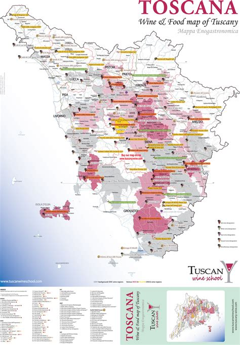 tuscan wine food map life  grape  tuscany dream