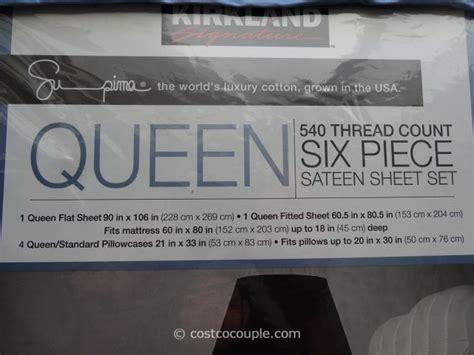 kirkland signature queen sheet set