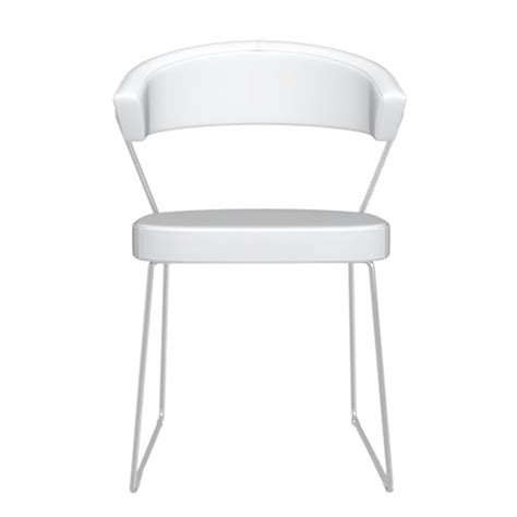calligaris new york dining chair optic white dining