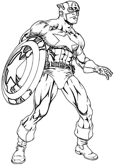 captain america coloring pages coloring pages    print