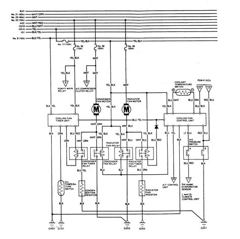 acura legend 1989 wiring system cooling system carknowledge
