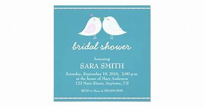 Invite Teal Birds Bridal Shower
