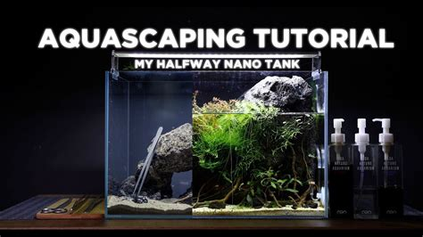tutorial aquascape halfway nano aquarium cinematic aquascaping tutorial
