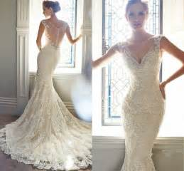 wedding flower hair vintage ivory lace bridal gowns mermaid wedding