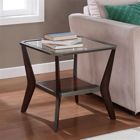 Wood Living Room Side Table by Glass End Table Modern Accent Side Sofa Rectangular Wood