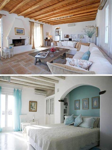 dreams  greece  seaside home beautiful interiors