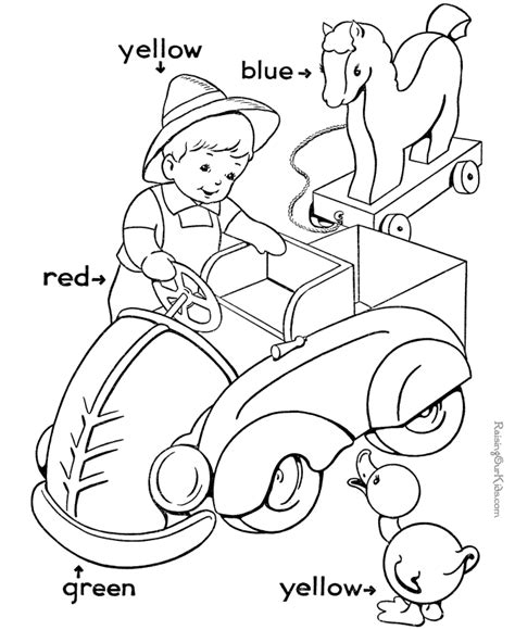 color worksheets for kindergarten az coloring pages
