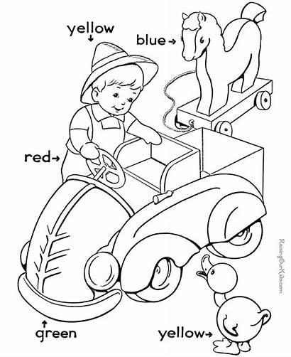 Worksheets Coloring Preschool Pages Activity Kindergarten Colors