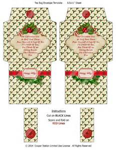 make your own gift basket digital printable christmas tea bag envelope 004 tea bag