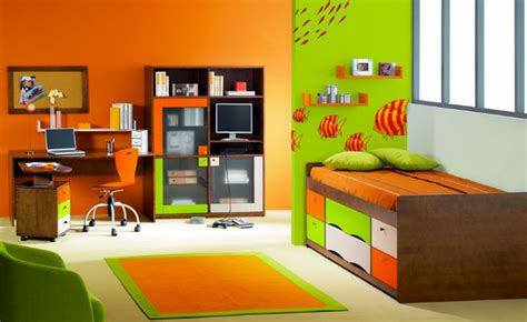 modele decoration chambre chambre fille orange vert paihhi com