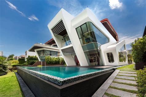 desain arsitektur rumah futuristik stylish arsitektur