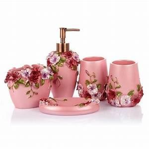 popular pink bathroom decor webnuggetzcom With cerise bathroom accessories