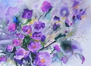 Aquarell Malen Blumen : 371 besten flower watercolors blumen aquarelle bilder ~ Articles-book.com Haus und Dekorationen