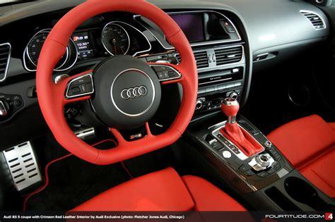 audi rs   crimson red leather interior  audi