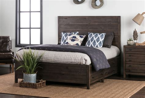 living spaces beds rowan panel bed w storage living spaces