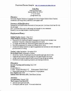 resume samples functional format With functional resume sample