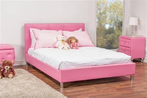 Baxton Studiobarbara Pink Leather Modern Full Size Bed