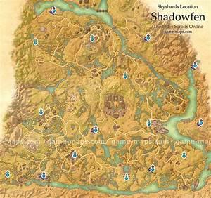 Shadowfen Skyshards Location Map - ESO game-maps com