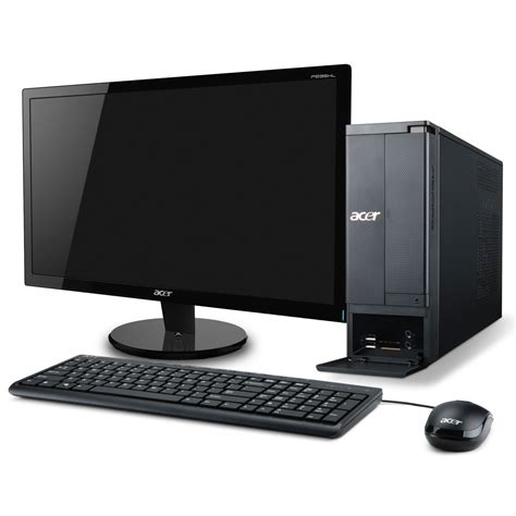 ordinateur de bureau windows 7 pro acer aspire x1430 006 ob 21 5 quot pc de bureau acer sur ldlc