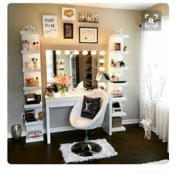 White Vanity Makeup Station by 15 Fantastic Vanity Mirror With Lights For Bedroom Ideas