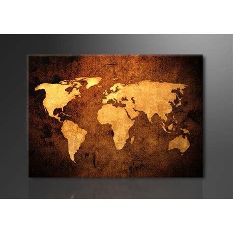 toile carte du monde tableau imprim 233 120x80 cm carte du monde achat vente tableau toile toile bois cdiscount