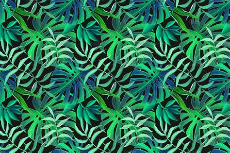 tropical leaves seamless pattern graphic patterns