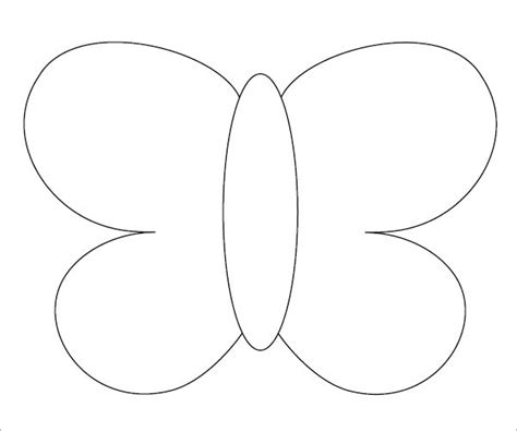 Butterfly Template Free by 10 Butterfly Sles Pdf Sle Templates
