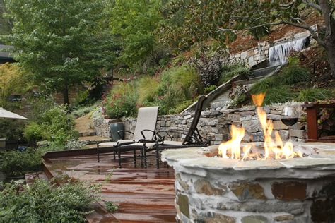 Bench Terracing by Backyard Waterfall Shannon Del Vecchio S Blog