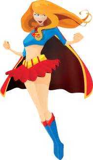 Super Girl Superhero Clip Art Free