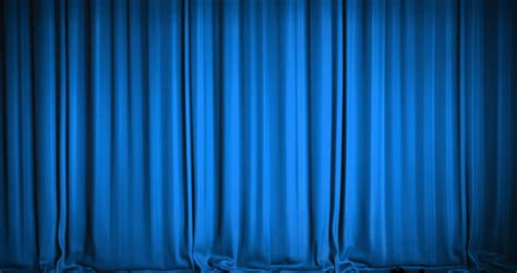 Blue Curtains by Blue Theater Curtain Stock Footage