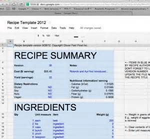 Recipe Sheet Template Nuts And Bolts Recipe Database Clover Food Lab