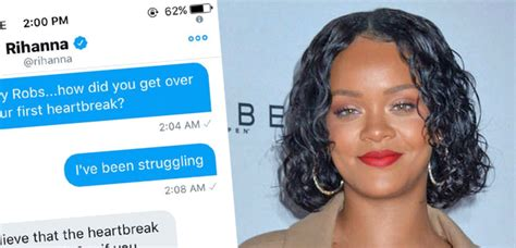 Rihanna's Response To A Fan's Dm About Getting Over A