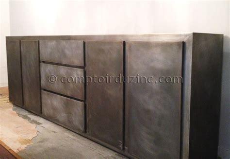 bureaux design grand buffet en zinc meubles mobilier le comptoir du