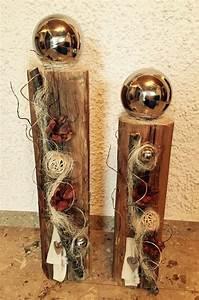 Weihnachtsdeko Draußen Basteln : edel dekorierter holzbalken weihnachtsdeko holz ~ A.2002-acura-tl-radio.info Haus und Dekorationen