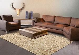 Tapis Beige Salon : tapis beige de salon en cuir pioneer arte espina ~ Teatrodelosmanantiales.com Idées de Décoration
